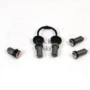 ZADI LOCK BARRELS x 5 & PAIR OF KEYS